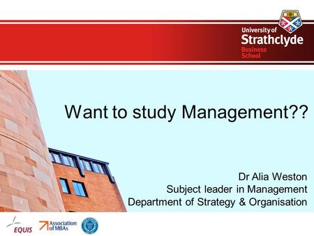 Want to study Management??