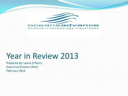 Year in Review 2013 Prepared By: Leslie OReilly Executive Director (Past) February 2014.