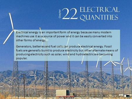 22 electrical Quantities