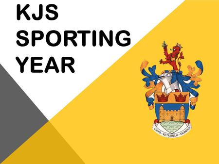 KJS Sporting year.