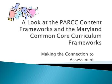 Making the Connection to Assessment. Three components: Common Core State Standards Excellent Matches to State Curriculum Essential Skills and Knowledge.
