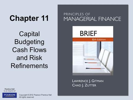 Objectives Discuss relevant cash flows and the three major cash flow components. Calculate the initial investment, operating cash inflows, and terminal.