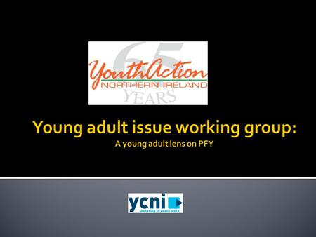 PFY: A young adult lens (Improving young peoples lives through youth work)