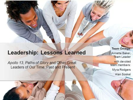 Leadership: Lessons Learned