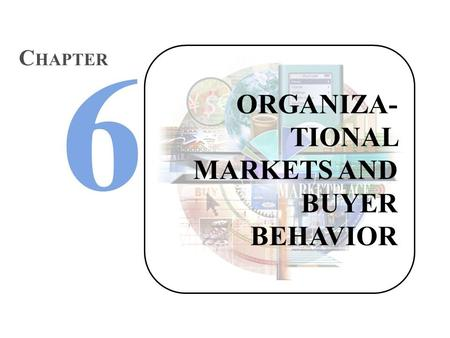 ORGANIZA- TIONAL MARKETS AND BUYER BEHAVIOR C HAPTER.
