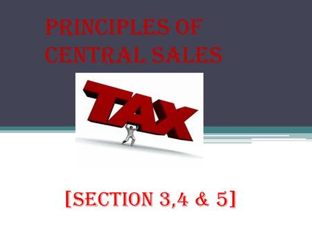 Principles of Central Sales