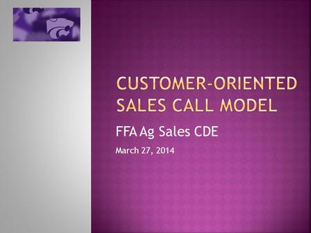 Customer-oriented sales call model
