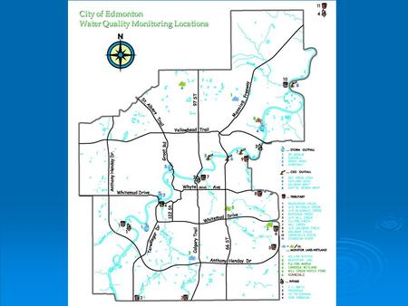 City of Edmonton Water Quality Monitoring Locations.