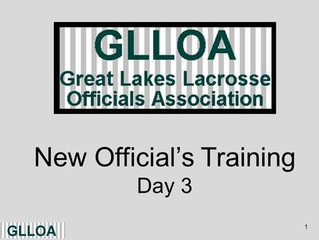 1 New Officials Training Day 3. 2 Rule Changes - 2013 Allows either an X or a 4-inch contrasting color square to be used as the location for the faceoff.