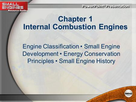 Chapter 1 Internal Combustion Engines