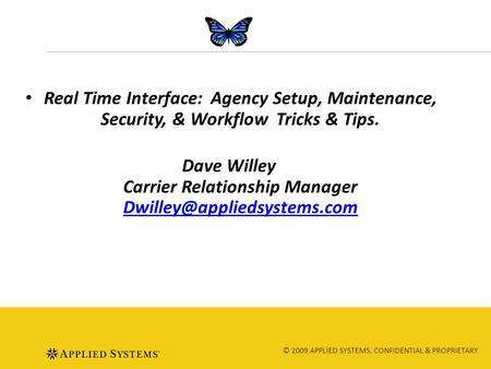 carrier relationship manager