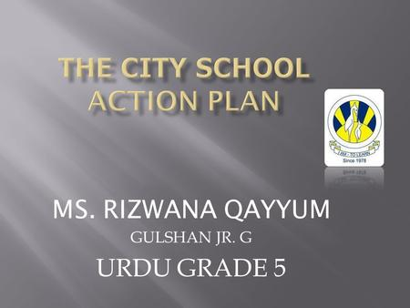THE CITY SCHOOL ACTION PLAN