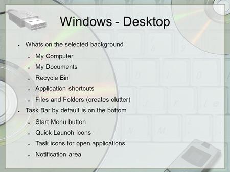 Introducing Windows 95  Today's Agenda n Overview n Windows
