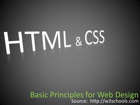 Basic Principles for Web Design Source: