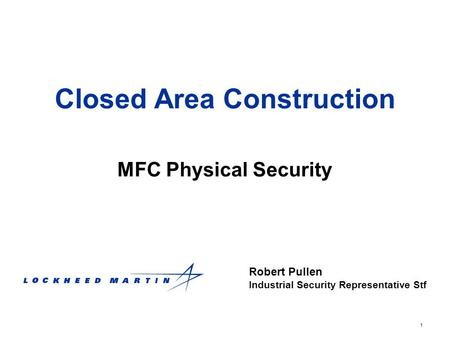 Closed Area Construction