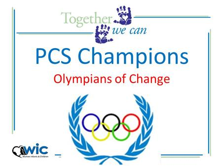 PCS Champions Olympians of Change Lets Dive Into the Games.