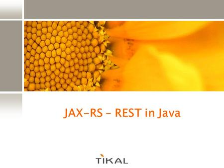 JAX-RS – REST in Java.