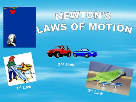 NEWTON'S LAWS OF MOTION 2nd Law 1st Law 3rd Law.