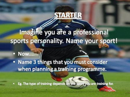 Imagine you are a professional sports personality. Name your sport!