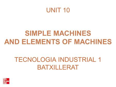 AND ELEMENTS OF MACHINES