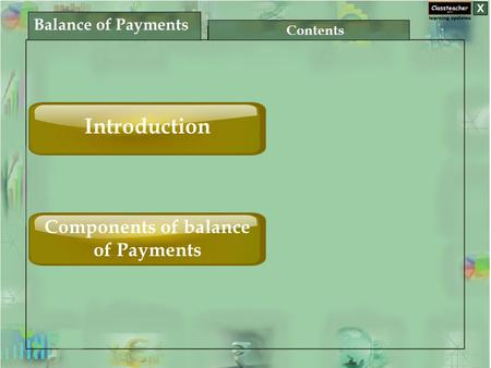 Balance of Payments Contents Introduction Components of balance of Payments.
