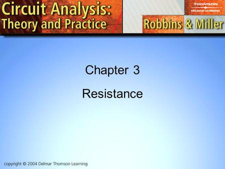 Chapter 3 Resistance.