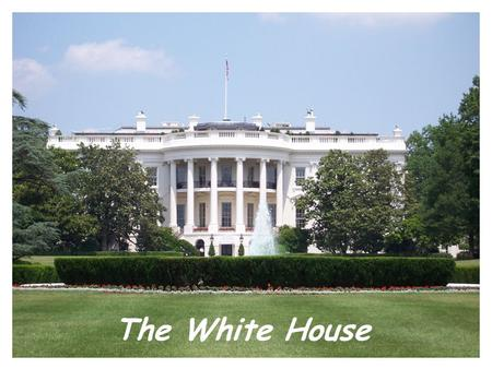 The White House. White House The White House is a symbol of the Presidency, Government, and American people. It is located at 1600 Pennsylvania Ave in.