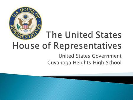 United States Government Cuyahoga Heights High School.