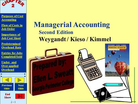 Managerial Accounting Second Edition Weygandt / Kieso / Kimmel