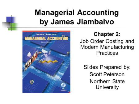 Managerial Accounting by James Jiambalvo