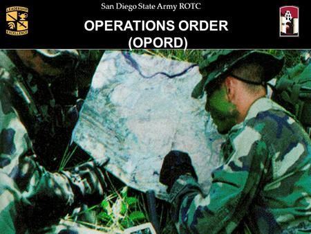 OPERATIONS ORDER (OPORD).
