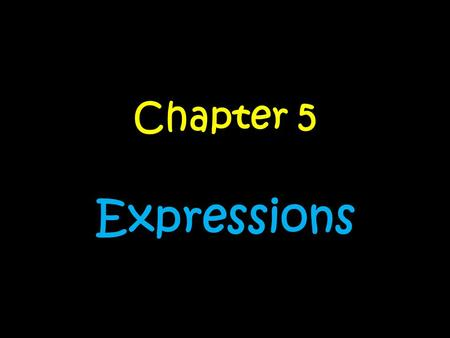 Chapter 5 Expressions. Day….. 1.Order of OperationsOrder of Operations 2.Algebraic PropertiesAlgebraic Properties 3.Algebraic Properties Cont….Algebraic.