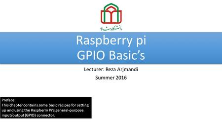 Raspberry Pi 2/3 GPIO - LED, Button - ppt download