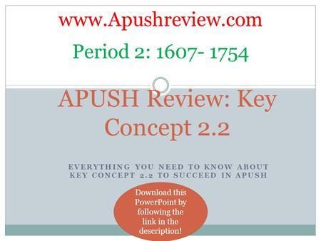 APUSH Review: Key Concept 2 2