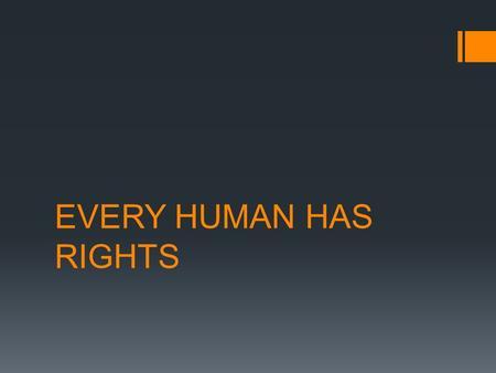 human right