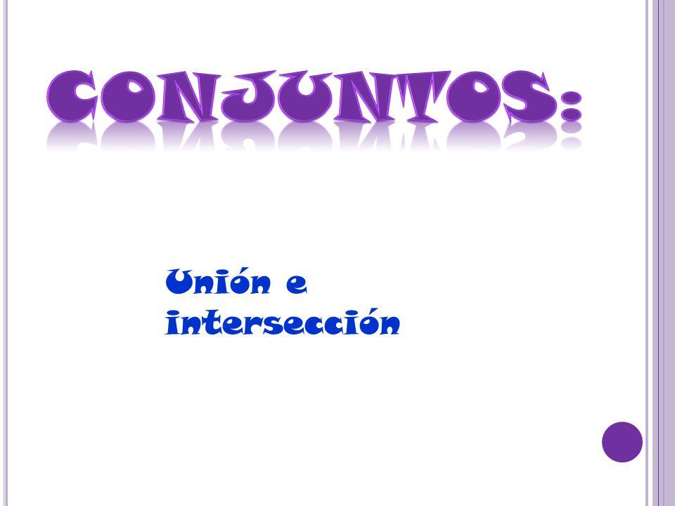 Unión E Intersección Conjuntos A 3 4 5 8 M U B 1 2 3 4 5 6 P A E I O U C 5 7 9 D 0 2 5 7 8 E 5 7 9 6 F 0 2 5 6 1 8 G A E O Ppt Download
