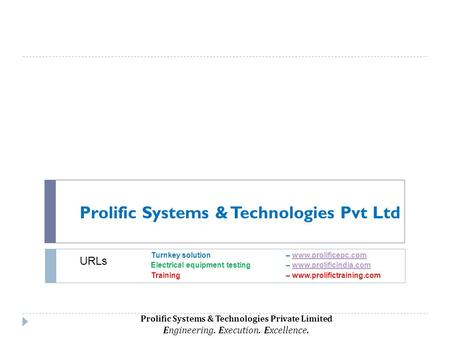 Prolific Systems Technologies Pvt Ltd Ppt Video Online Download