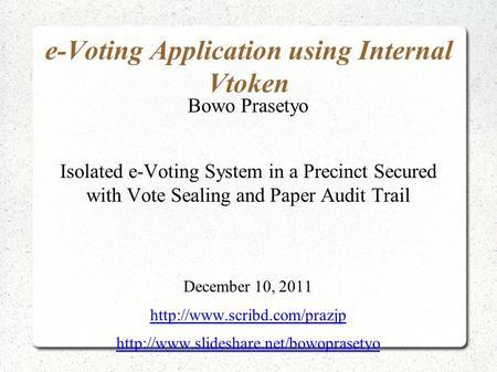 PRESENTATION ON EVM & VVPAT - ppt download