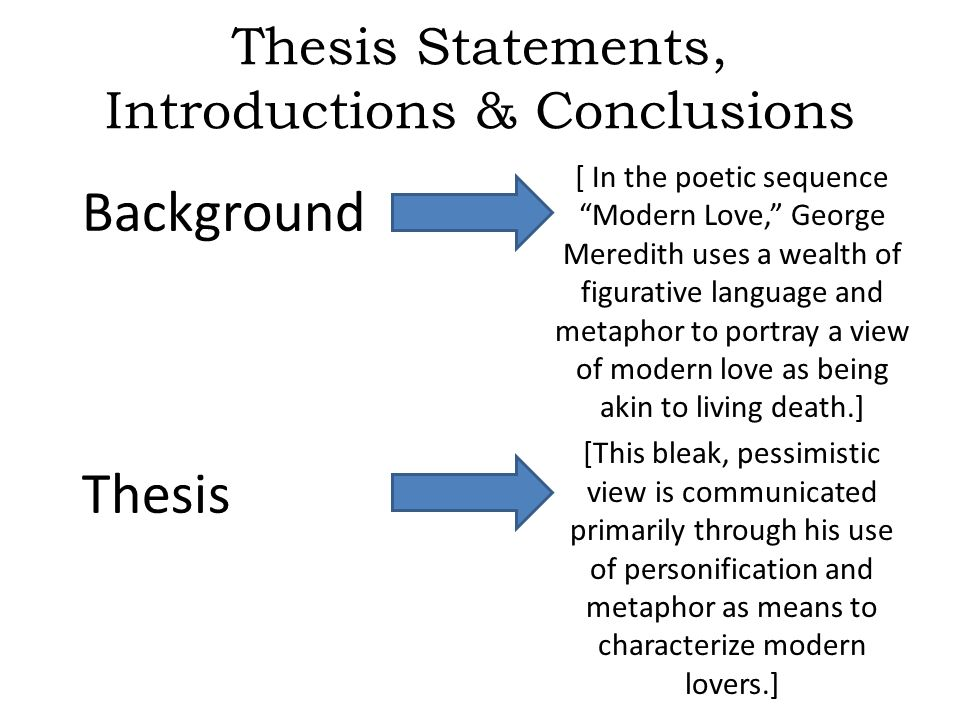 thesis love
