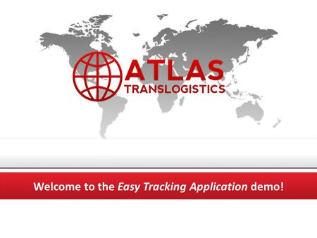 Welcome to the Easy Tracking Application demo!. START Easy Tracking Application Instantly updates website information E-mails order confirmation and tracking.