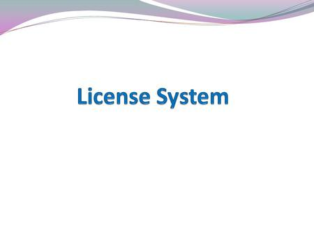 What is license A unique license number is given at the time of new installation.(For example: Lic no. olk162531) A software license both imposes restrictions.
