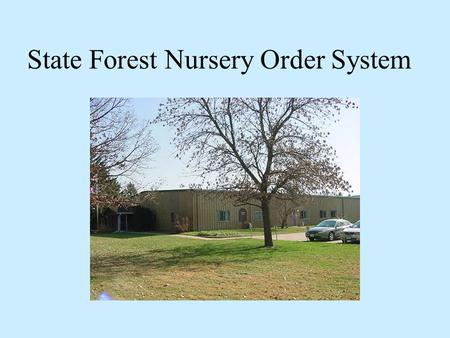 State Forest Nursery Order System. Seedlings The nursery sits on 100 acres and produces approximately 3 million seedlings each year. Additional seedlings.