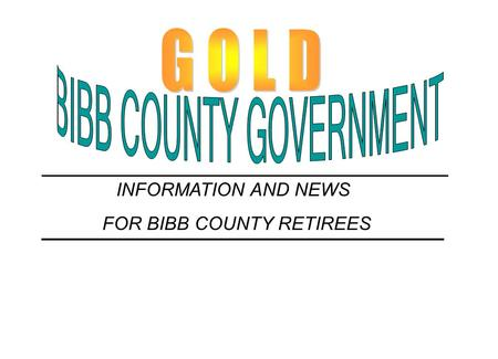 BIBB COUNTY GOVERNMENT