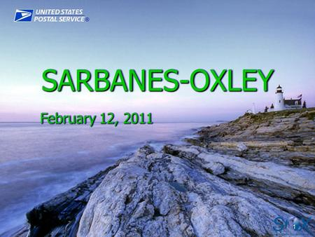SARBANES-OXLEY February 12, 2011.