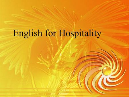 English for Hospitality. Topic 2 Room Reservation via Telephone.