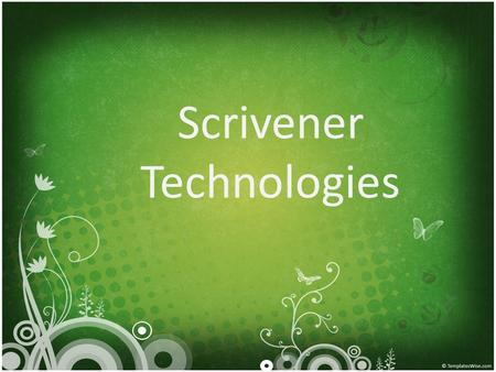 Scrivener Technologies. About Us Scrivener Technologies is a provider of offshore General Transcription services who can assist you by providing transcription.