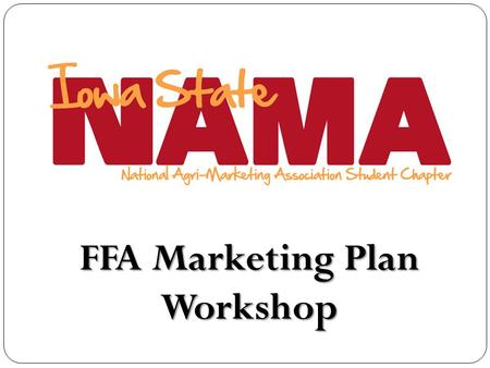 FFA Marketing Plan Workshop