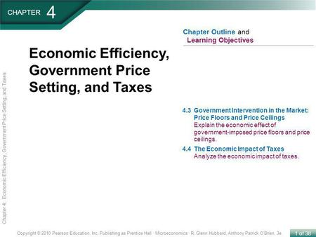 4 Economic Efficiency, Government Price Setting, and Taxes CHAPTER