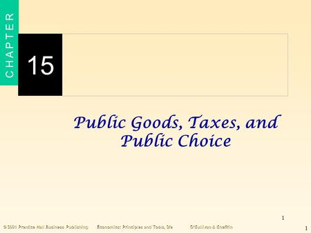 Public Goods, Taxes, and Public Choice