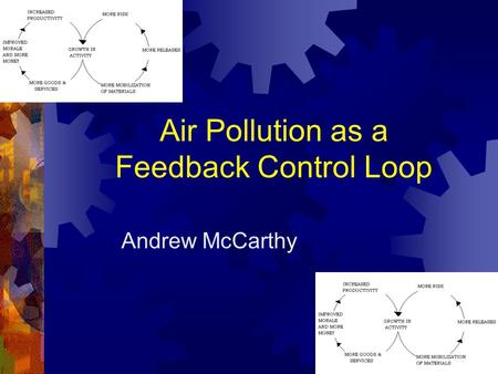 Air Pollution as a Feedback Control Loop Andrew McCarthy.